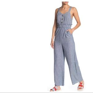 Romeo & Juliet Couture | Blue Overall Jumpsuit